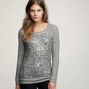 J Crew Collection Haya gray sequined sweatshirt